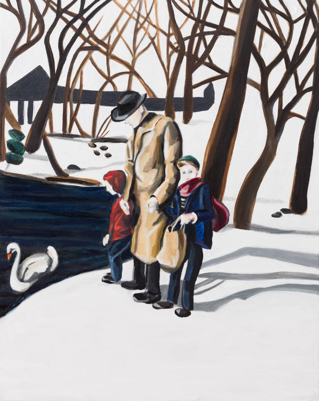 "Winter Walk  20"" x 16""  Oil on Linen  ©Annika Connor"