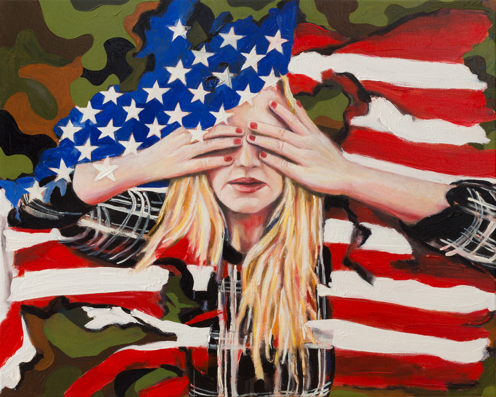 "American Angst   16"" x 20""  Oil on Linen  ©Annika Connor"