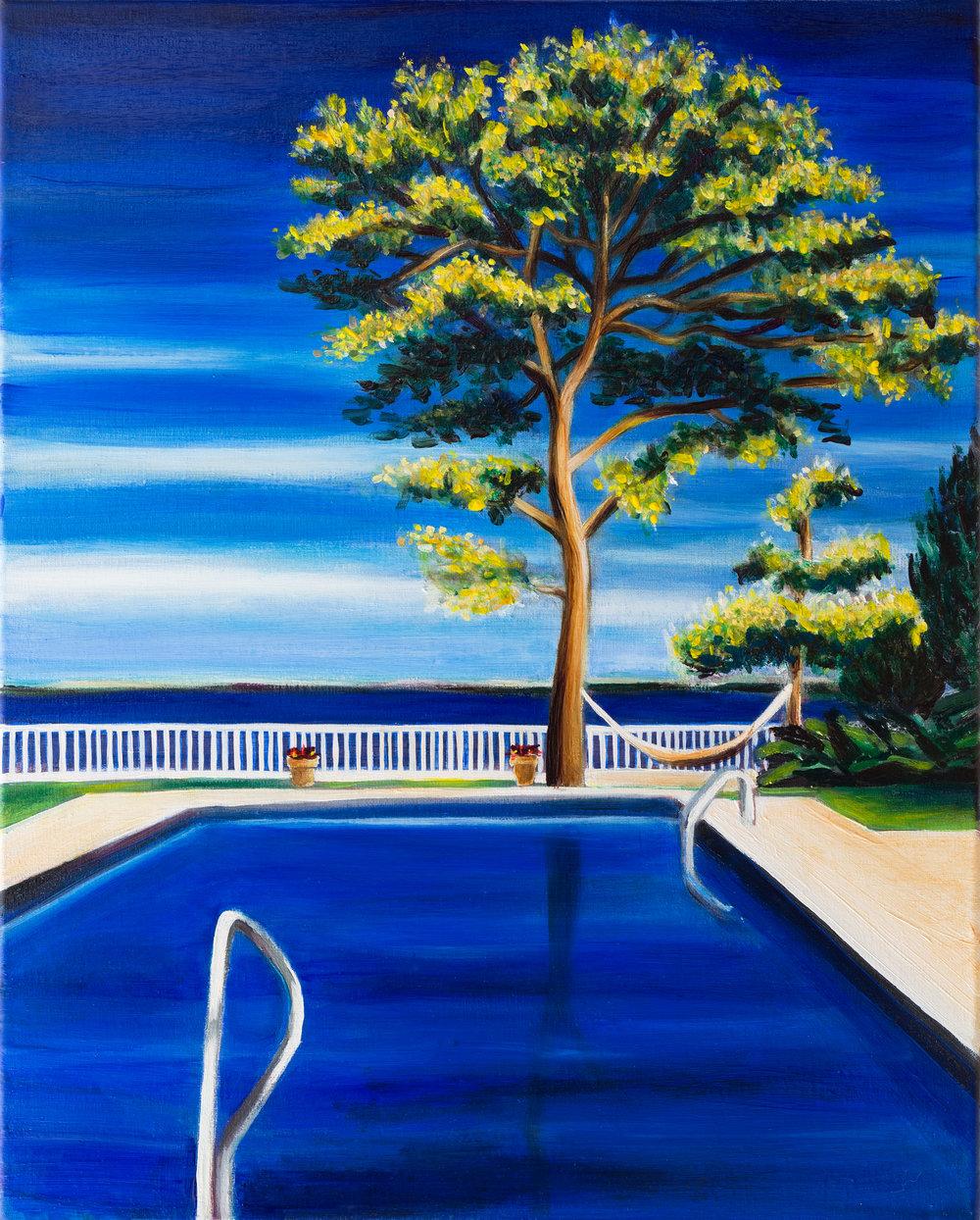 "Portrait of a Tree in July    20"" x 16""    Oil on Linen    ©Annika Connor"
