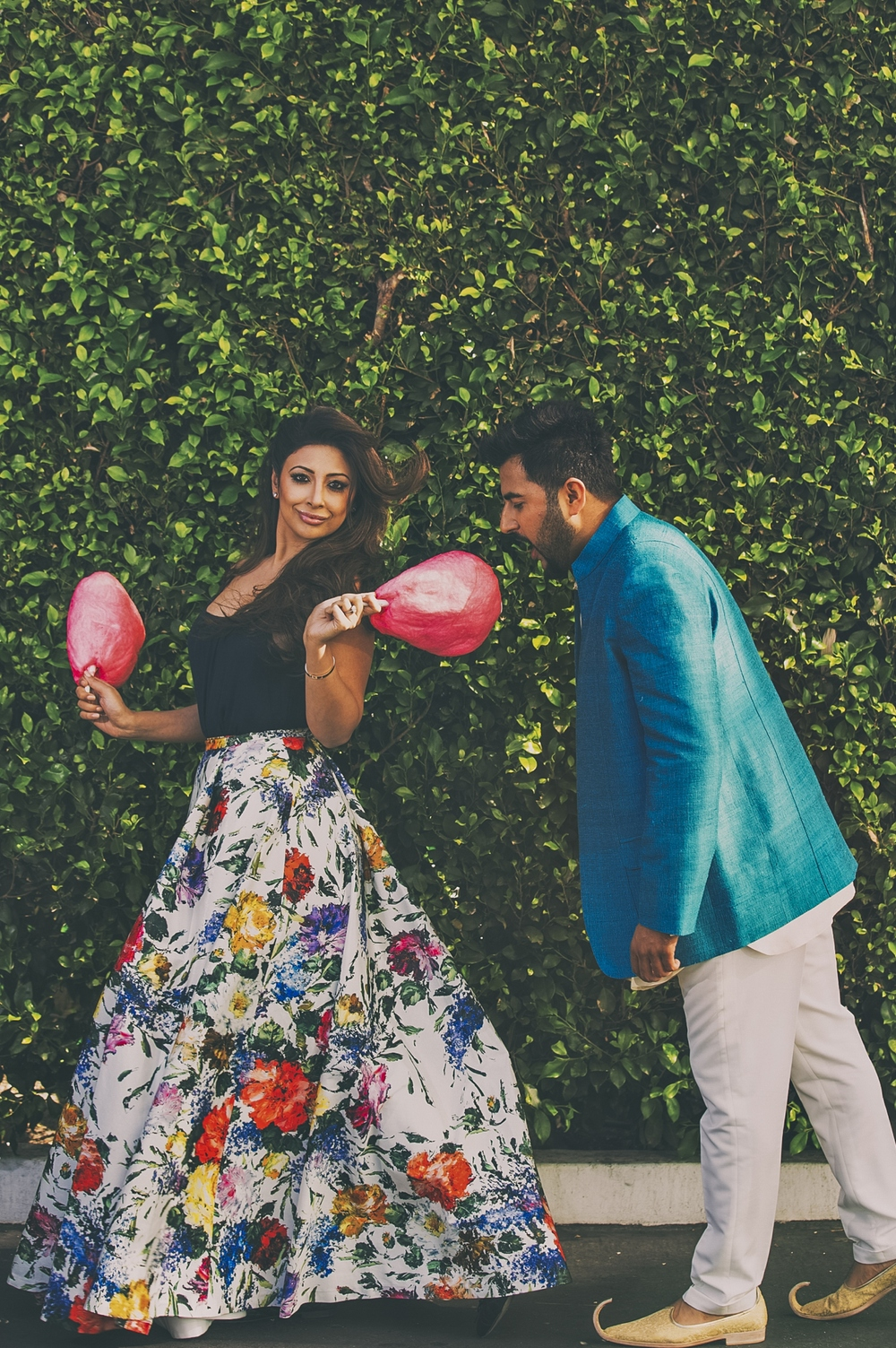 The Look: Alive & Olivia Floral Ball Gown Skirt and Tank, Manish Malhotra Jacket Set
