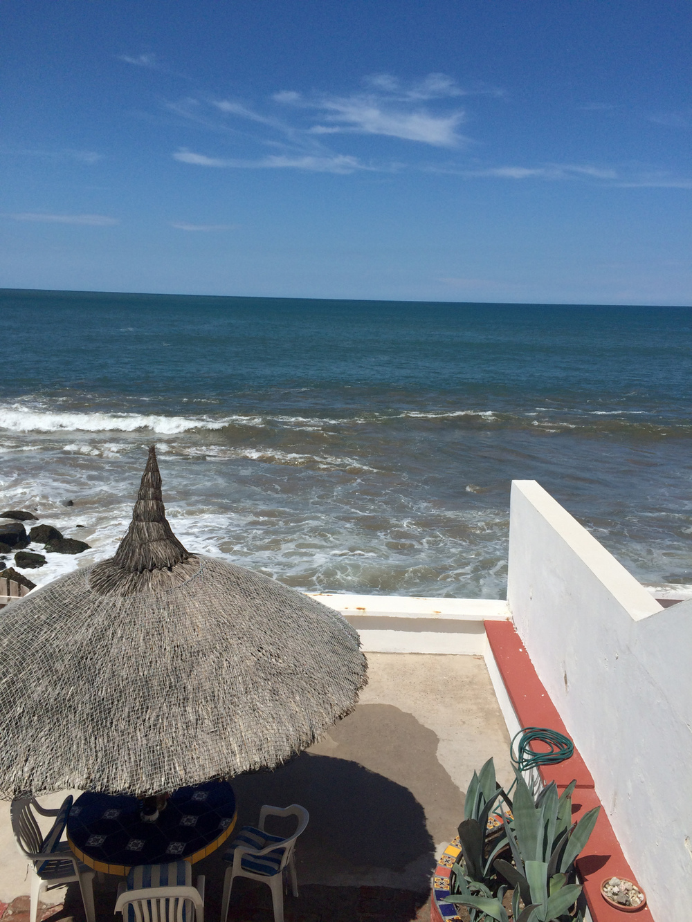 ocean view from mexican patio