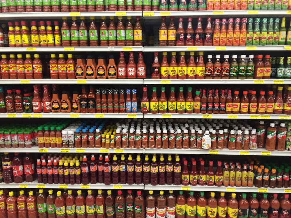 - I should have carried a panoramic camera for the hot sauce isle.