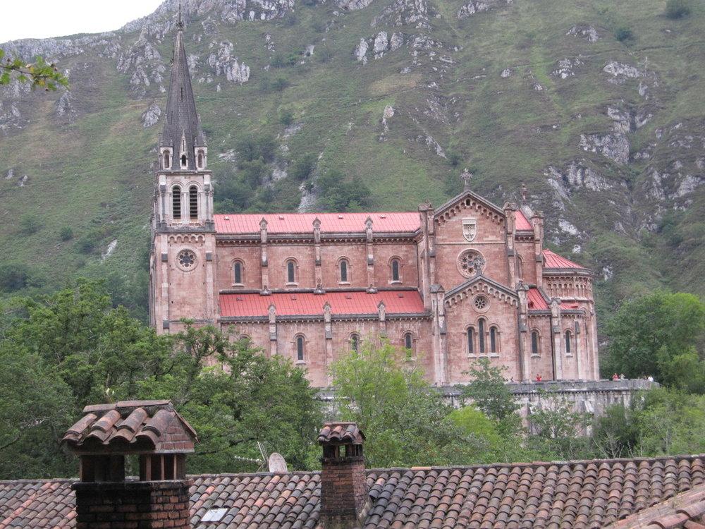 "Sanctuary of ""Nuestra Senora de Covadonga"" in Asturias."