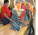 - Fabric stores have extensive choices