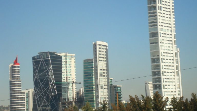 - High rises around Andares Commercial Center in Guadalajara
