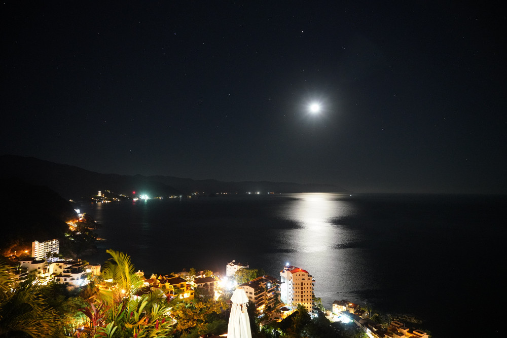Puerto Vallarta at night. Photo credit: Chris McQueen -