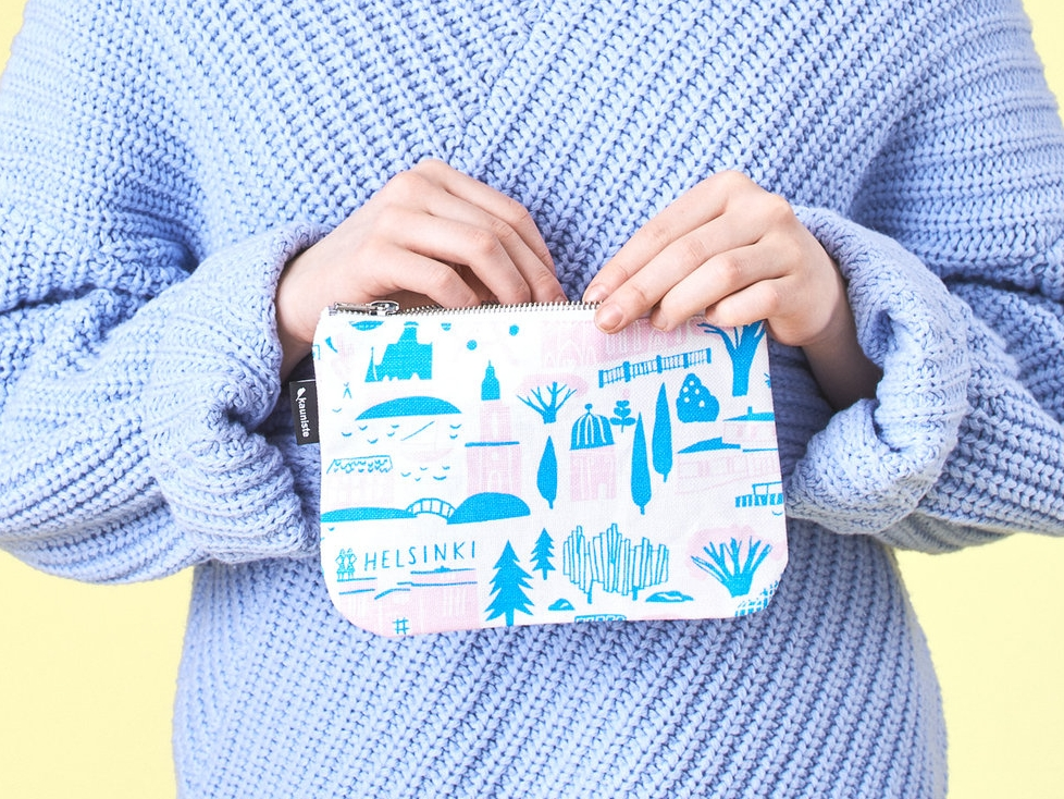 pouches - You can always come up with a reason for getting a cute pouch! The pouches have a metal zipper and a pink cotton lining with printed birds.AVAILABLE IN APRIL.