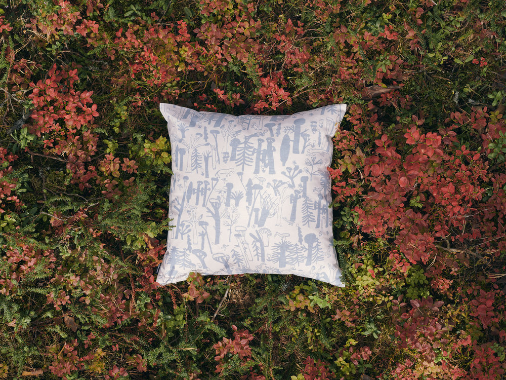 Woodlands Blue Cushion Cover