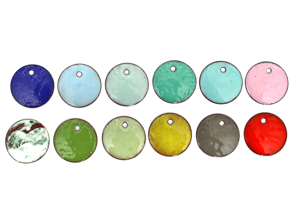 Enamel colors available to customize your piece!