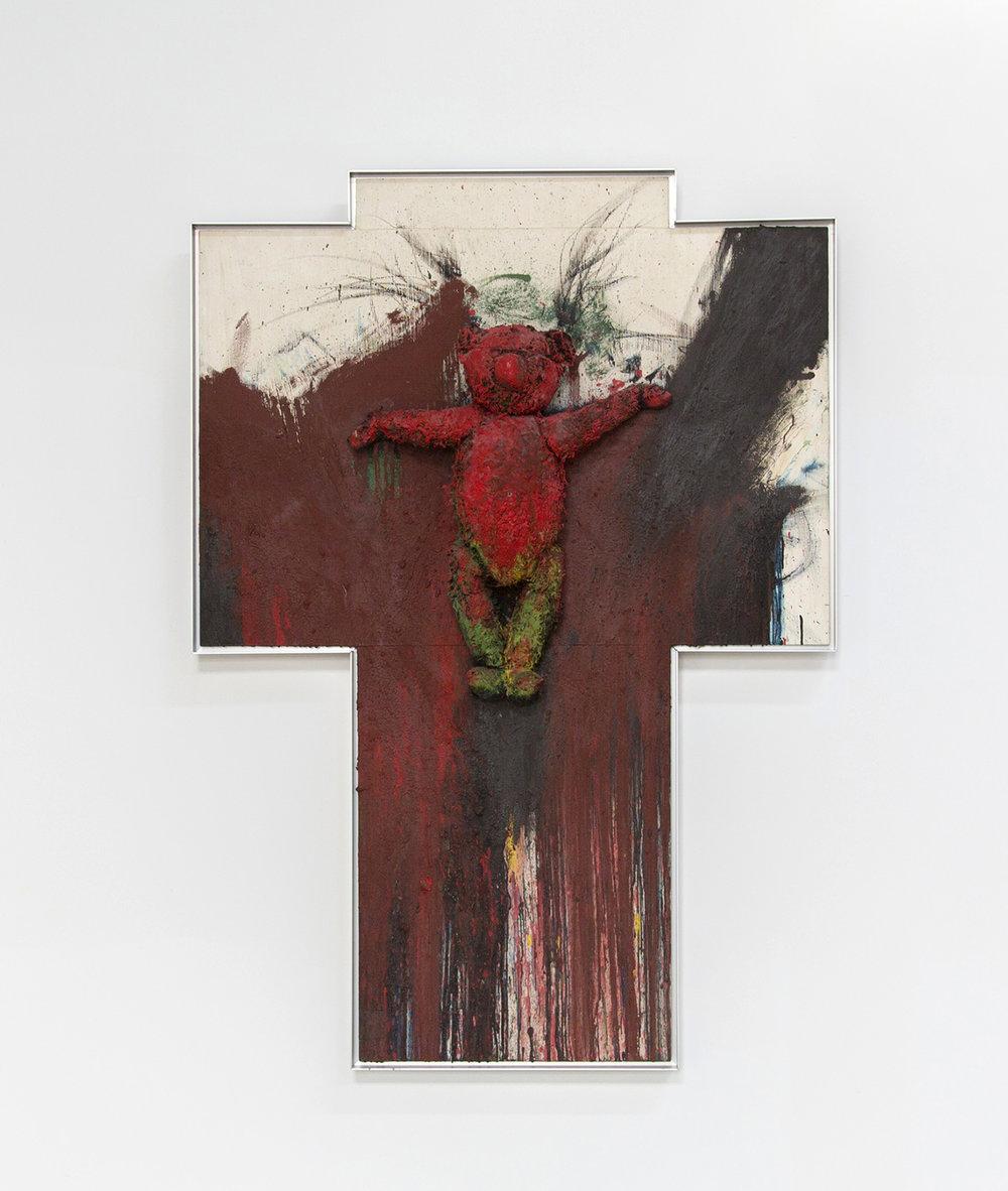 Arnulf Rainer,  Der gekreuzigte Bar (Bear on the Cross) , 1985–1987.