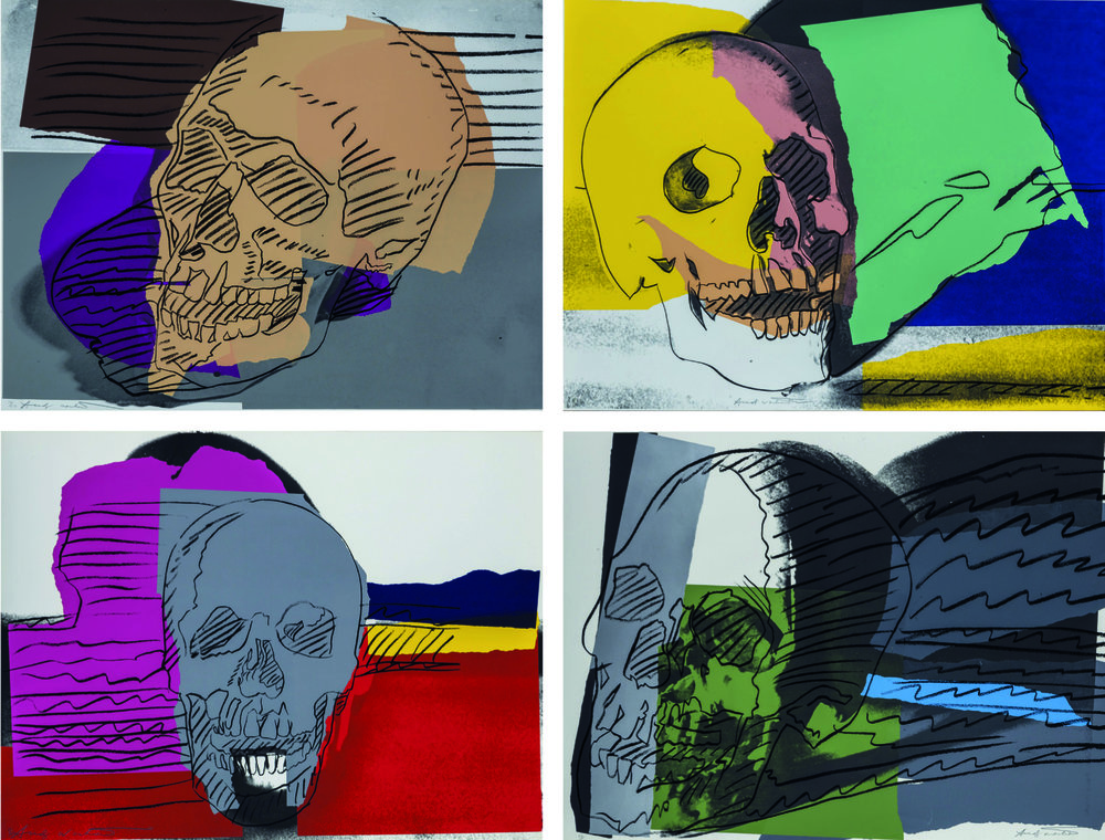 Andy Warhol,  Skulls , 1976. Silkscreen print