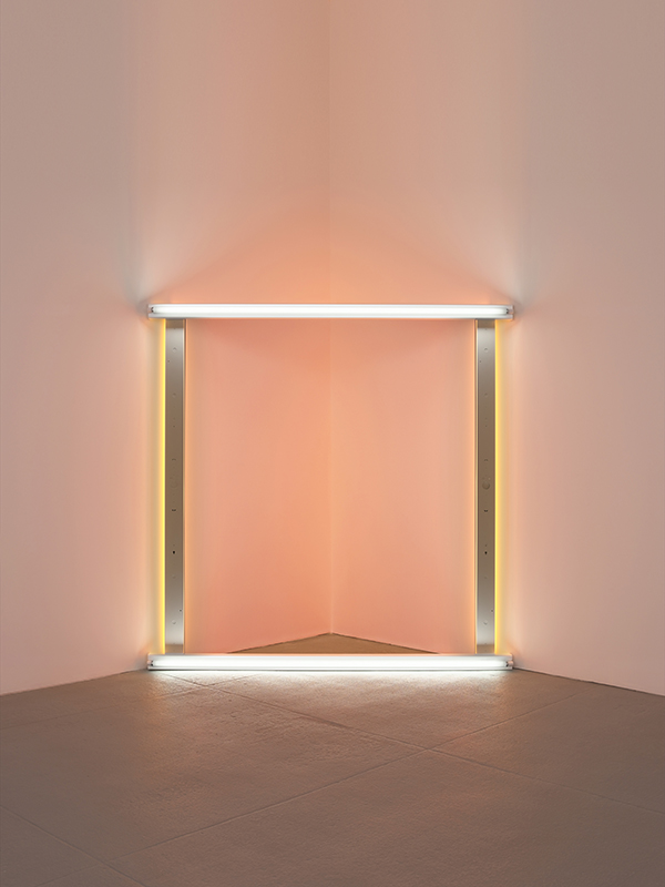 "Dan Flavin,  untitled (to the ""Innovator"" of Wheeling Peachblow) , 1966–68. © Stephen Flavin/Artists Right Society (ARS), New York. Photo: Billy Jim"