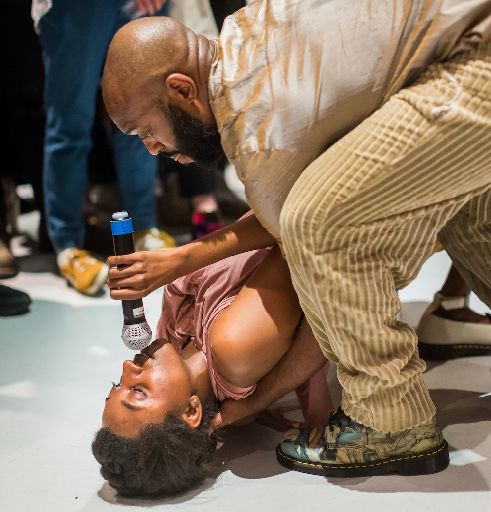 Lex Brown, C.E. 2018. Performance with Aaron Fowler at the New Museum. Courtesy New Museum. Photo_ Scott Rudd.jpg