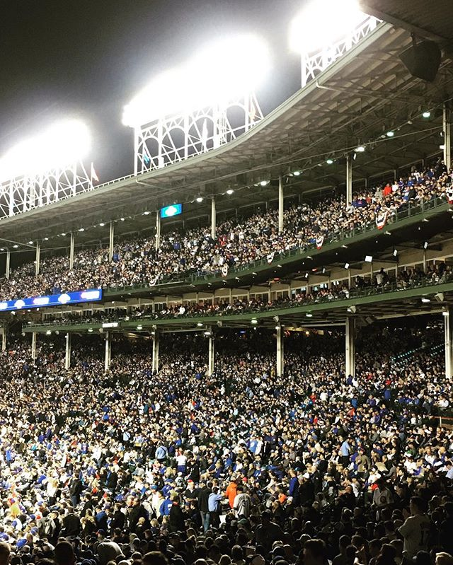 Love Wrigley in October. #EverybodyIn #cubs
