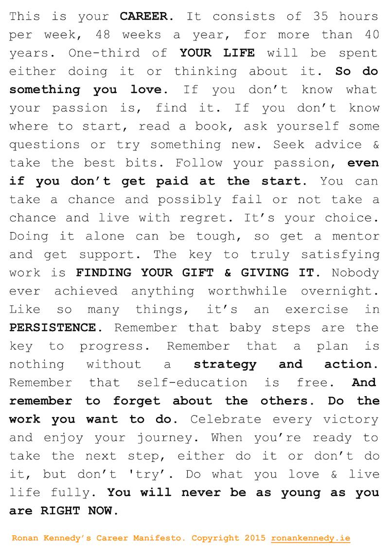 career manifesto poster