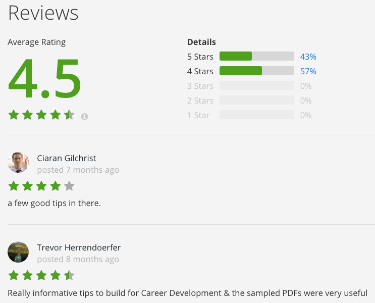 course reviews