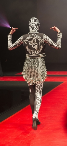 The Pearly Queen of Aotearoa by Debbie Shepherd at the Cult Couture Auckland Fashion Awards