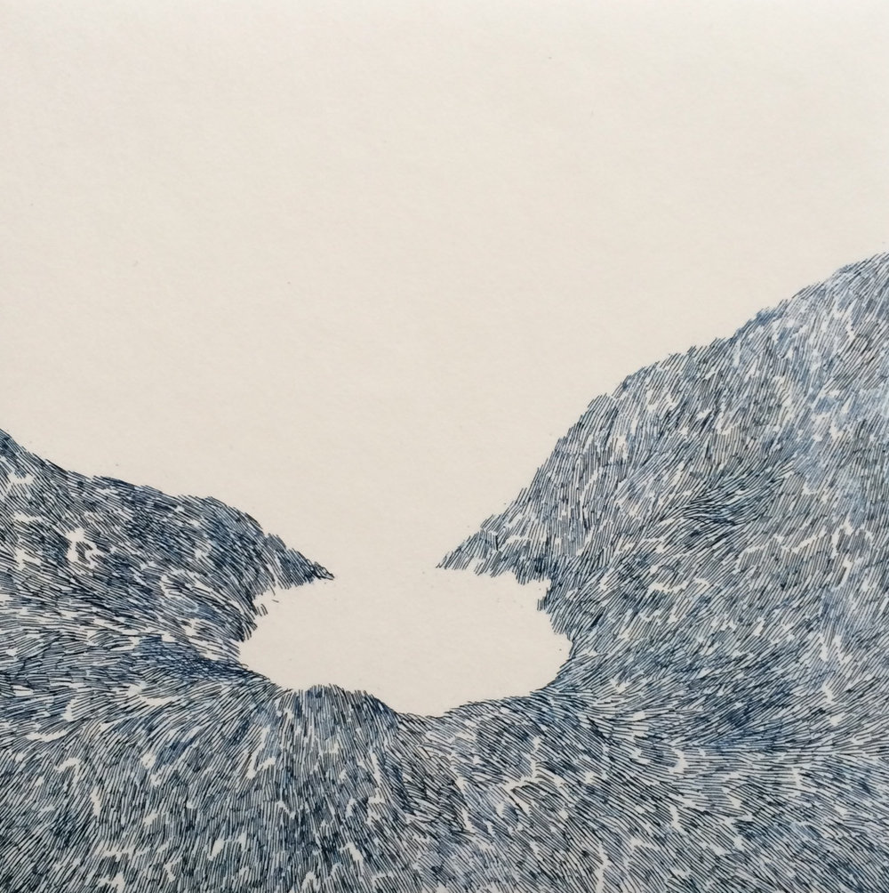 Ciara O'Brien, Mountains around a Lake