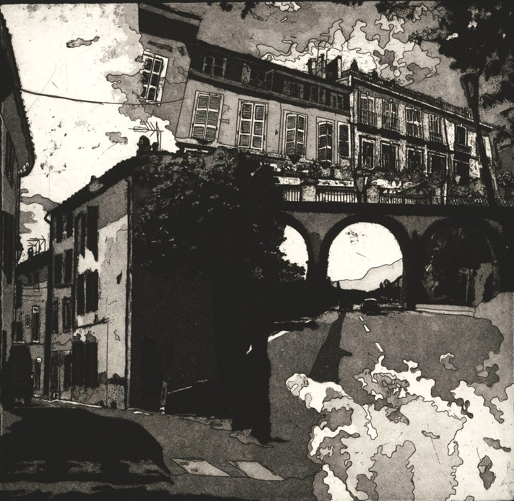 Ria Czerniak- De Varages a Aix, etching
