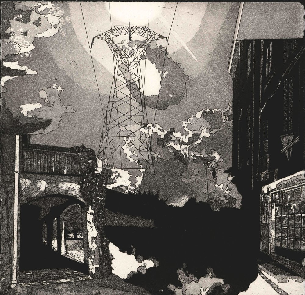 Ria Czerniak - La Puissance, etching