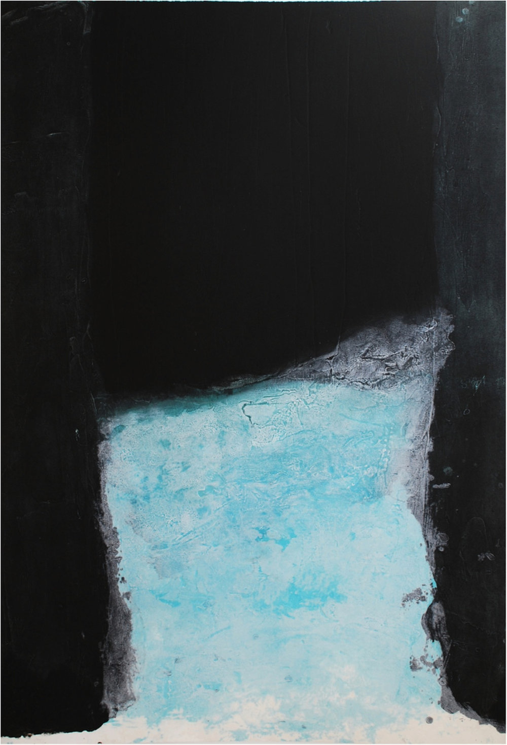 Gwen O'Dowd , Spaces II  Carborundum, sheet and image 125 x 85cm, €1270.00 unframed