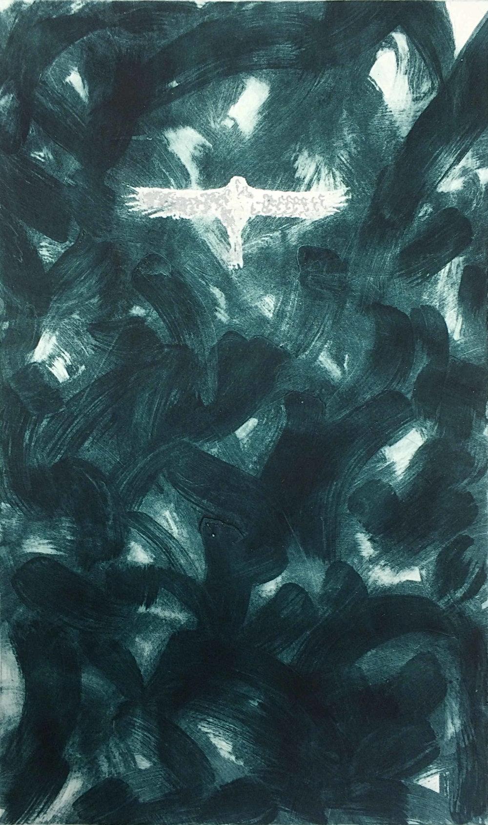 Anne Madden,  Carborundum, 62 x 104 cm image size, 79 x 128 cm sheet size, €2,500.00 framed