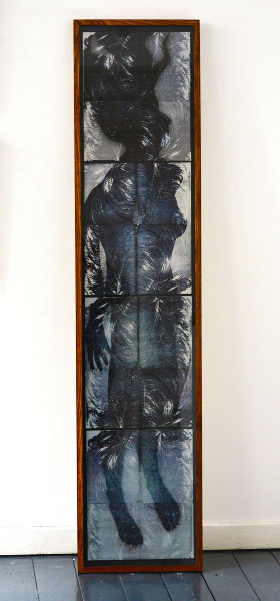 Niamh McGuinne, Antonietta  Mixed Media on aluminium, 35 x 172 cm, €1100.00 framed