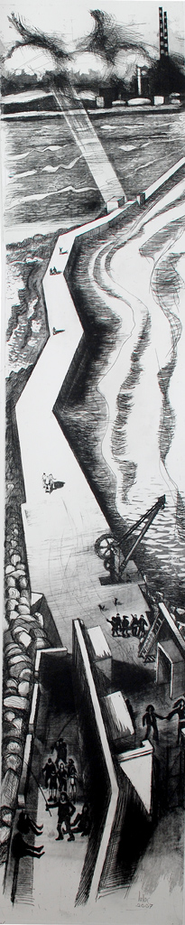 Brian Lalor, Swell Before Storm etching, 165 x 35 cm, €1500.00 unframed