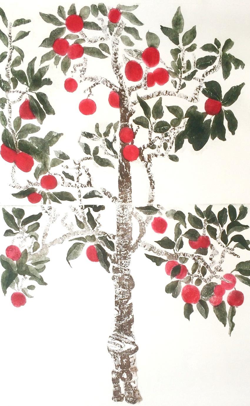 Cliona Doyle,  Etching,sheet size 170x107cm, image size 108x98cm, €1,700.00 unframed
