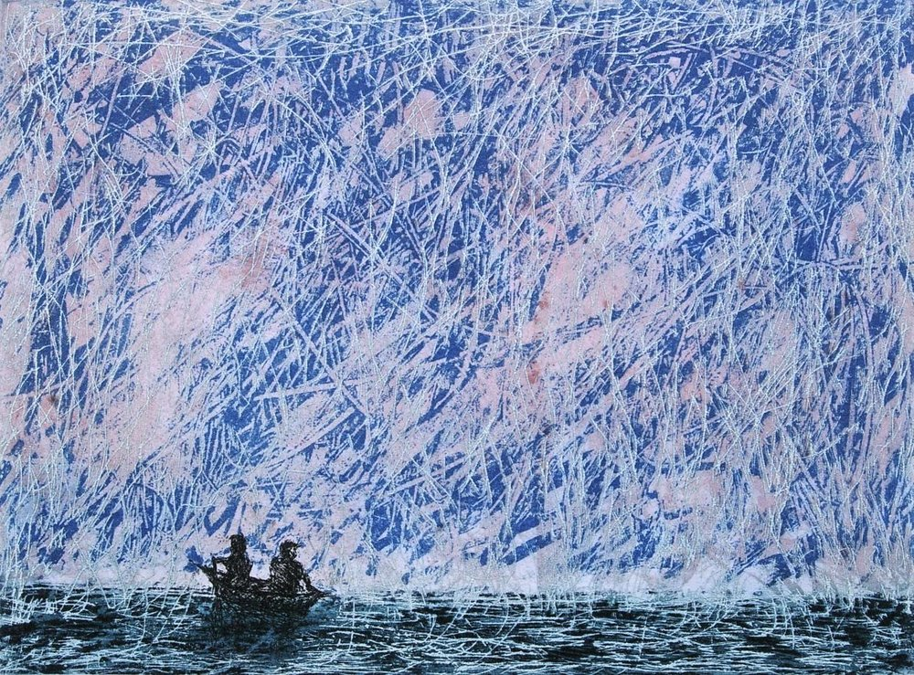 Daniel Lipstein,  Rowers at Sea , etching and aquatint, 20 x 27 cm,  €320 euro unframed