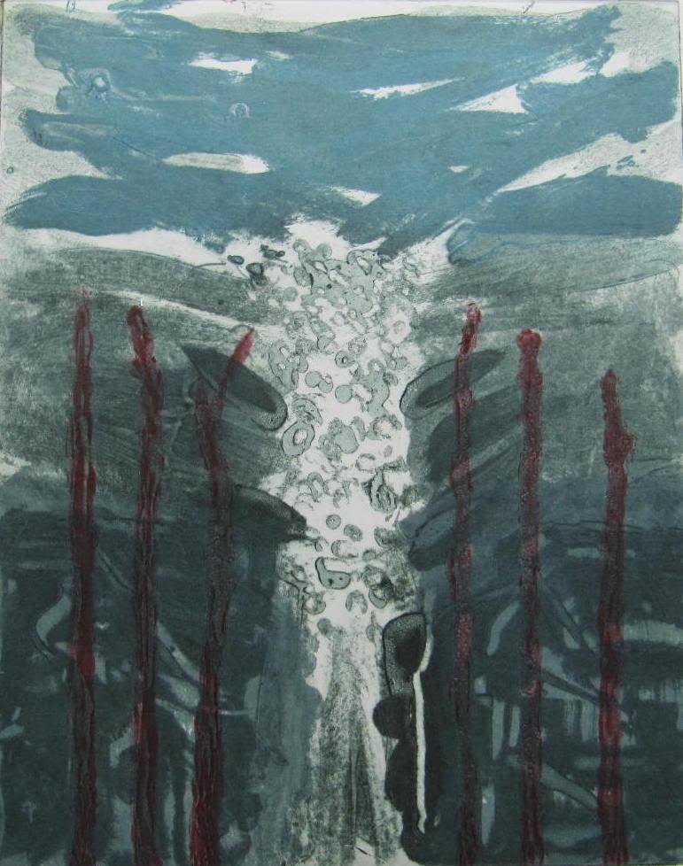 Margaret Tuffy,  Precipice 1, Carborundum,Image Size: 25 x 19.5cm, paper size: 38 x 53cm ,€180 unframed price