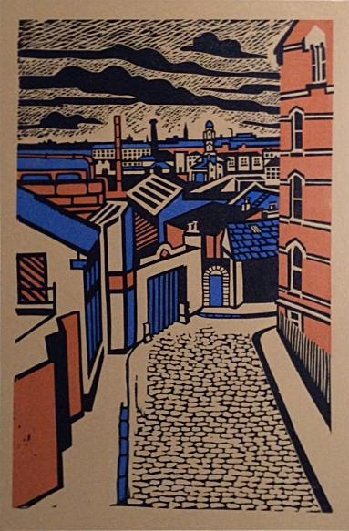 Louise Leonard,John's Lane West, Linocut image: 53cm x 35cm, paper: 70cm x 49cm, €280 unframed price