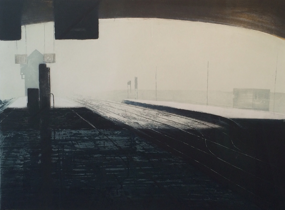 Colbert Station, etching and aquatint,paper and image 55 x 74 cm, 550 unframed price