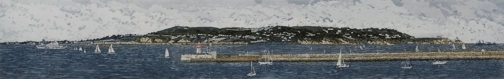 Susan Early,   Across Dublin Bay- South to North , ed. of 50,  etching & aquatint, plate: 8 x 50cm, paper: 22 x 62cm. Unframed price: €290