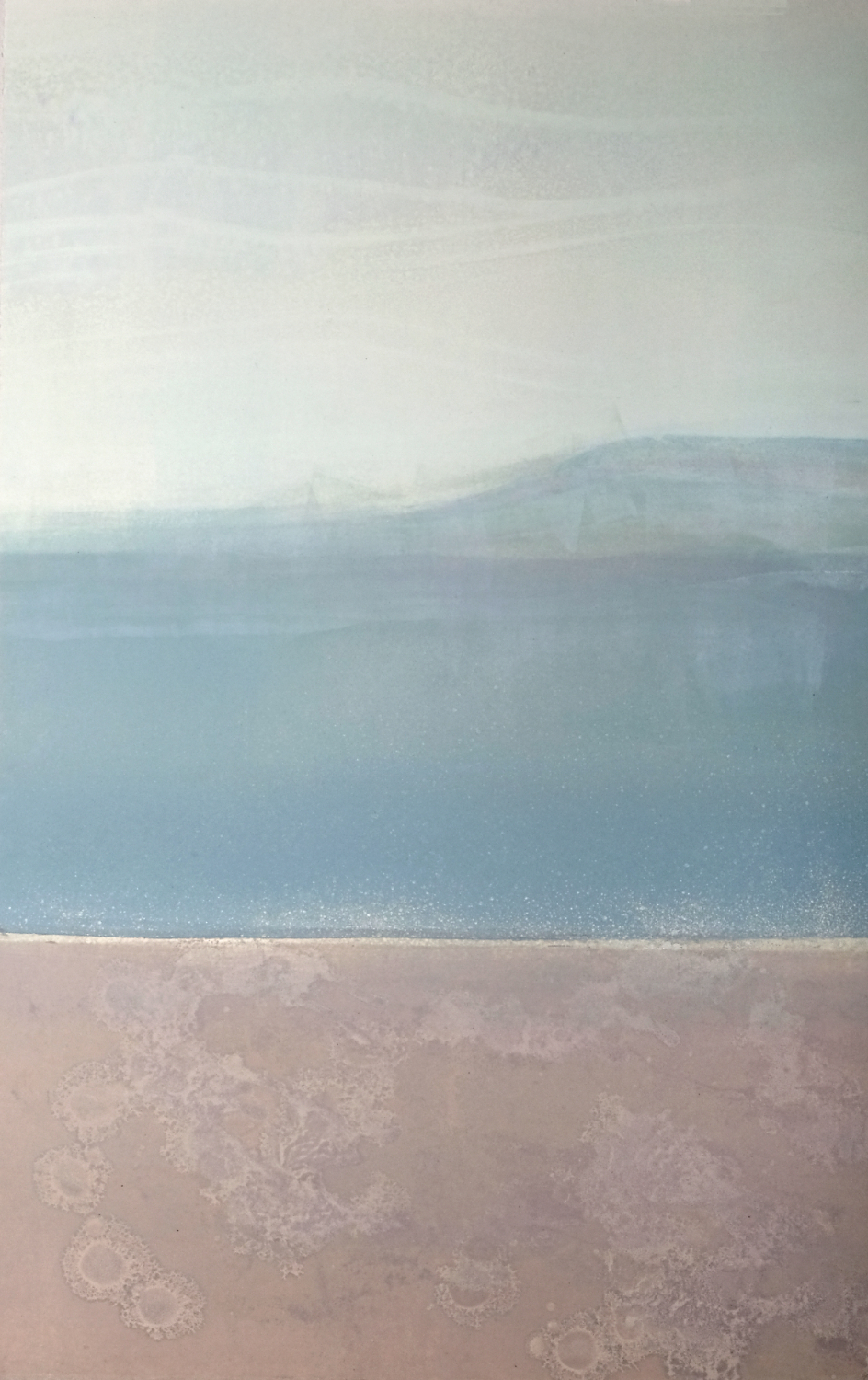 Elke Thönnes, Long Island View III,  monoprint , plate and paper: 76 x 58cm.  Framed price:  €550.00