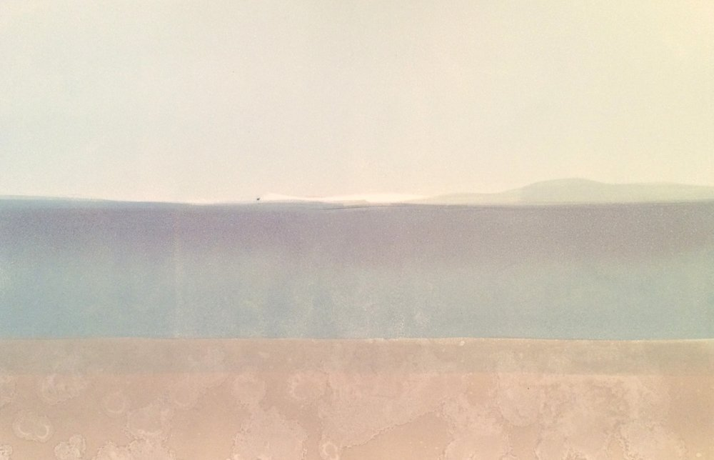 Elke Thönnes,  Long Island View II,  monoprint , plate and paper: 76 x 106cm. Framed price: €SOLD