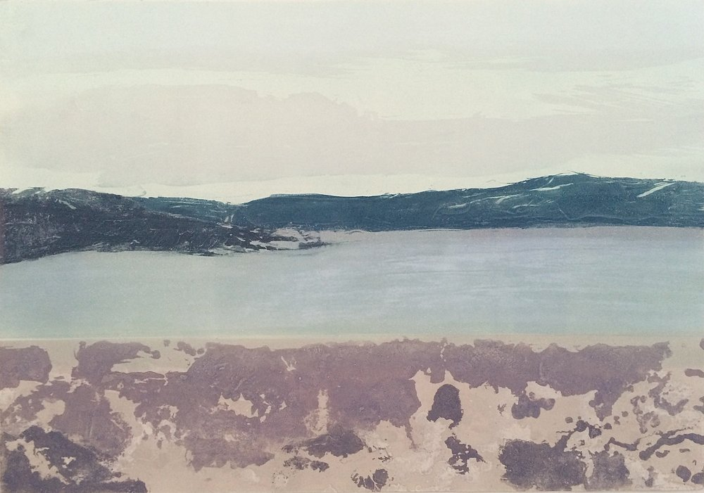 Elke Thönnes,  Long Island View I,  carborundum , plate and paper: 76 x 106cm. unframed price: €650.00