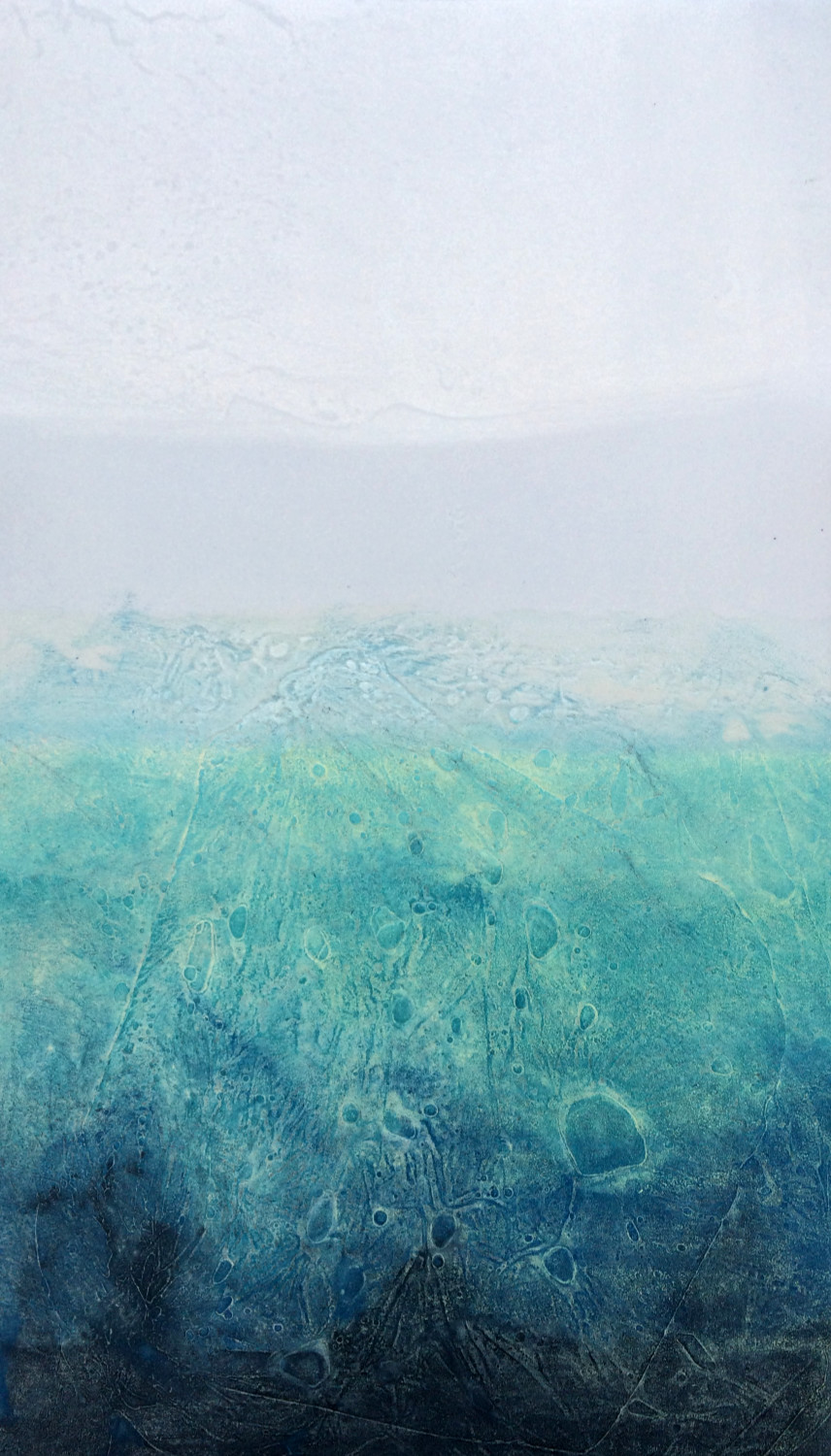 Elke Thönnes, Seabreeze III,  carborundum, plate and paper: 48 x 27cm. Unframed price: €180.00