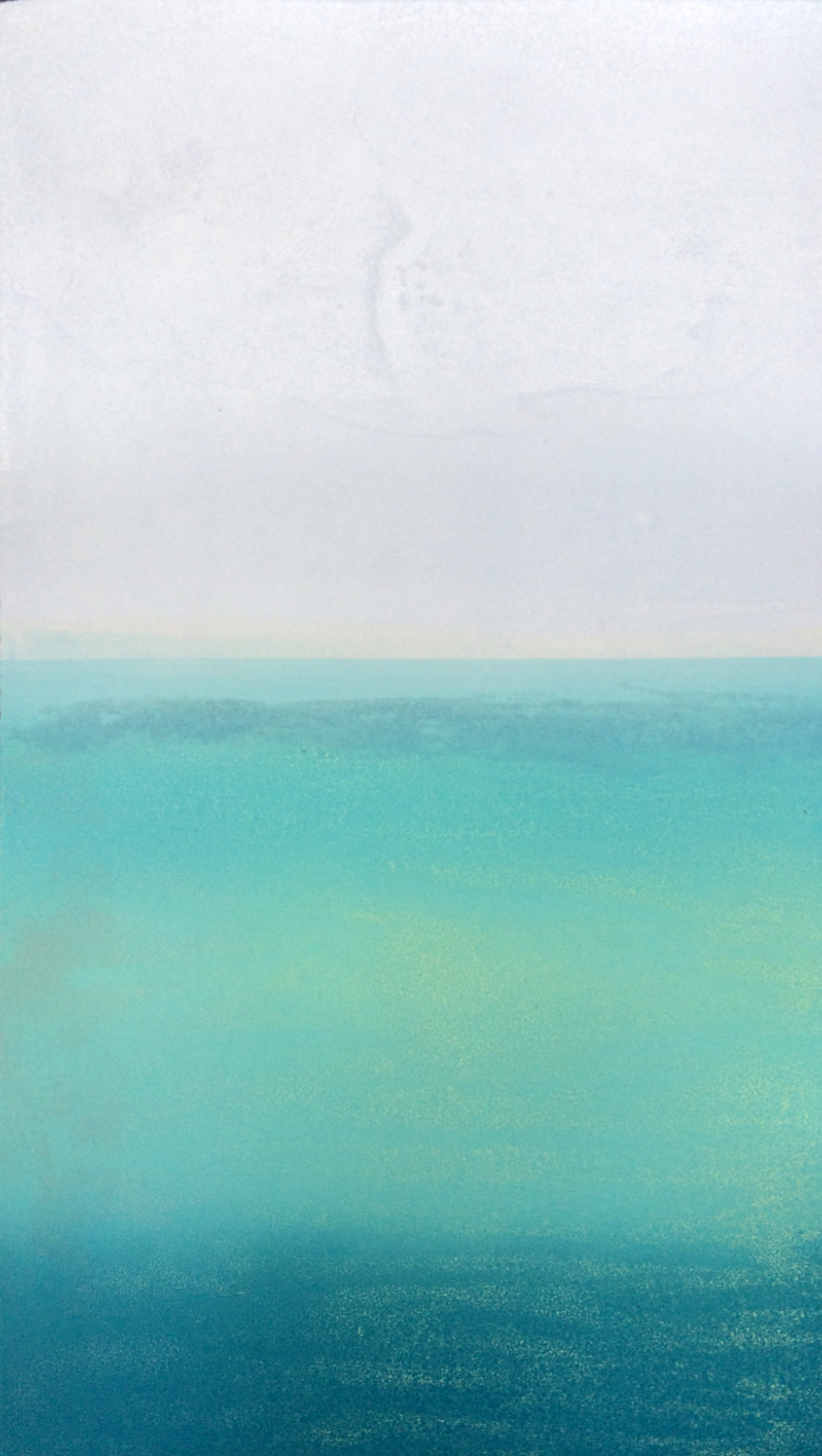 Elke Thönnes,   Seabreeze  II,  carborundum, plate and paper: 48 x 27cm. Unframed price: €180.00