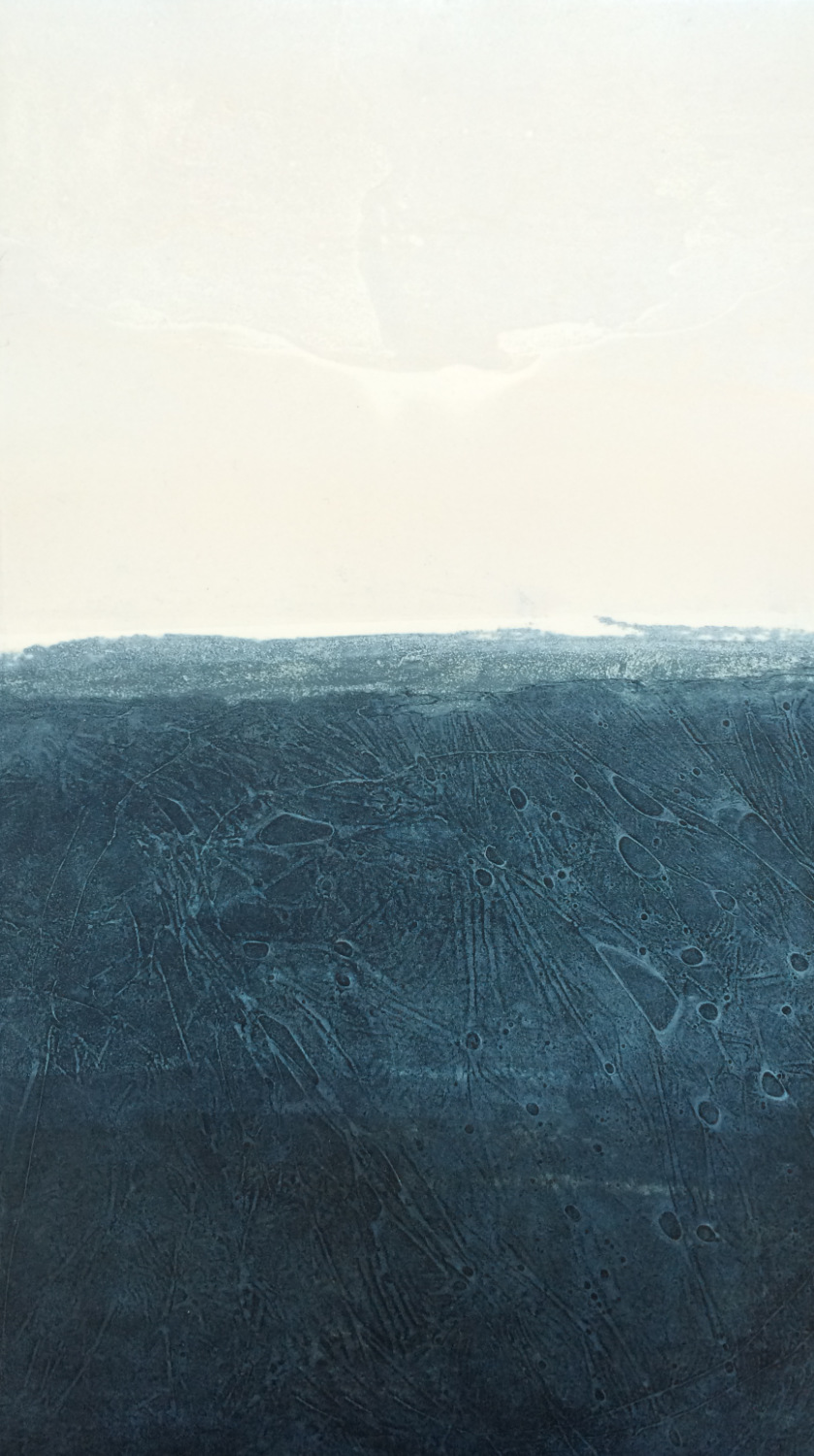 Elke Thönnes,   Shore ,  carborundum, plate and paper: 48 x 27cm. Unframed price: €180.00