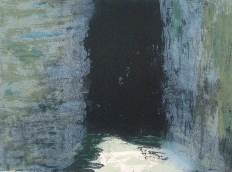 Spaces 5, carborundum, paper & image 55 x 76cm,  ed of 30, 2001, €580 unframed