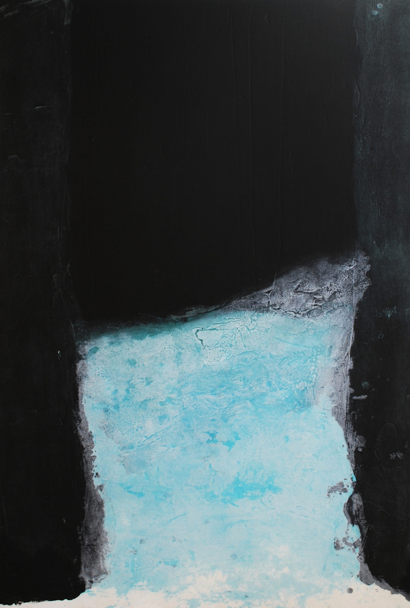 Spaces II, carborundum, paper & image 125 x 86cm, ed of 18, 2001, €1,400 framed