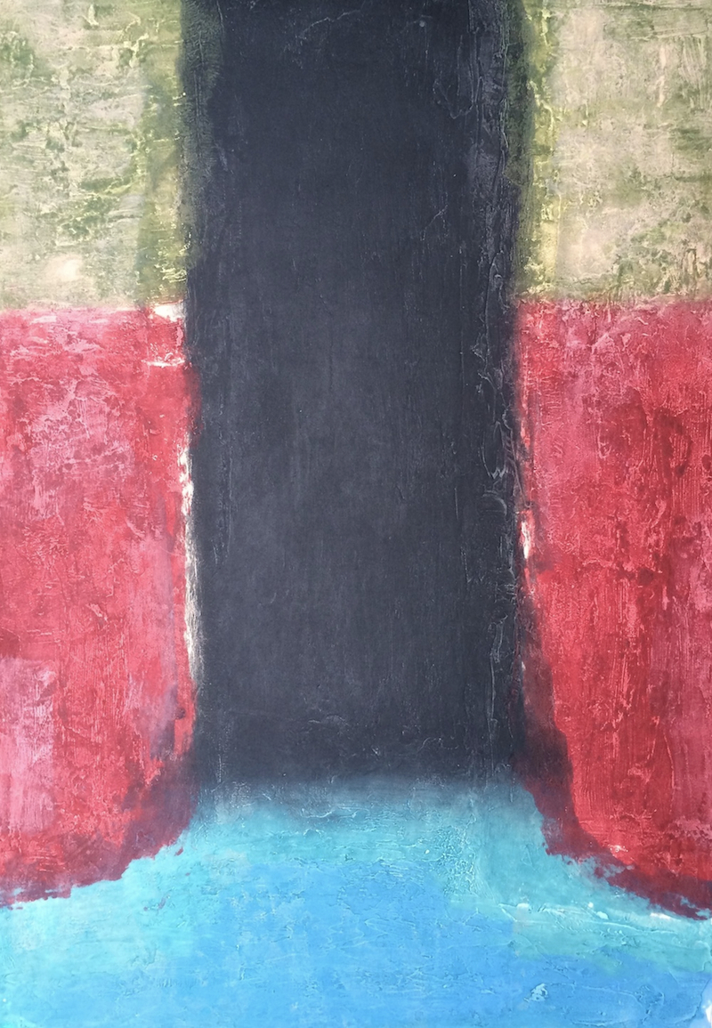 Spaces III, carborundum, paper & image, 125 x 86cm, ed of 18, 2001, €1,400 framed
