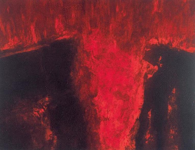 Fire, carborundum, 50 x 65cm, 1995