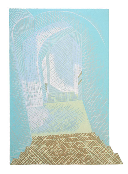 Gerard Cox, Musem Stairwell, 25 x 35 cm (image size), 50 x 70 cm (paper size), Woodblock,€375 unframed,€485 framed