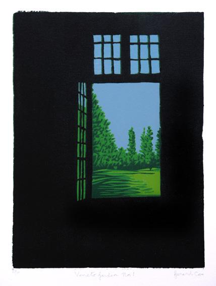 Gerard Cox, Veneto Garden I, 26 x 20 cm (image size), 48 x 35 cm (paper size), Woodblock,€275 unframed,€335 framed