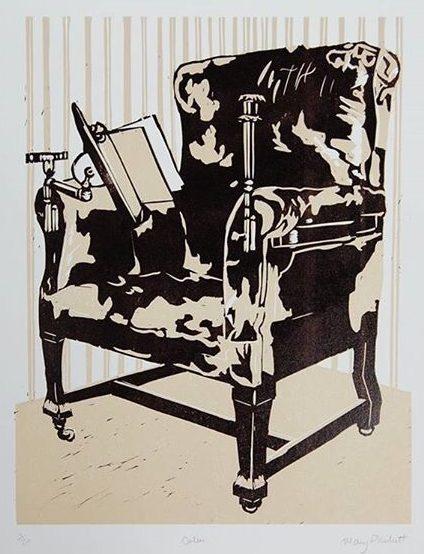Mary Pllunkett, Calm, 38 x 26.5 cm (paper size), Linocut,€175 unframed,€250 framed