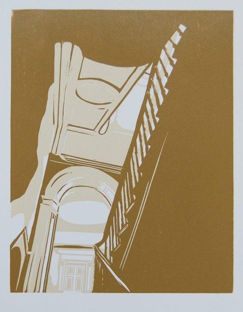 Mary Pllunkett, Daybreak, 38 x 26.5 cm (paper size), Linocut,€175 unframed,€250 framed