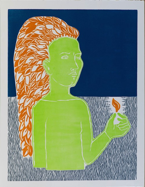 Alice Maher, Born Seeing,65 x 50 cm (paper size), Woodcut,€775 unframed,€850 framed
