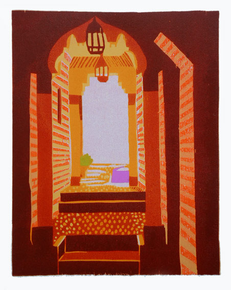 Gerard Cox, In the Medina, 26 x 20 cm (image size), 48 x 35 cm (paper size), Woodblock,€300 unframed,€380 framed